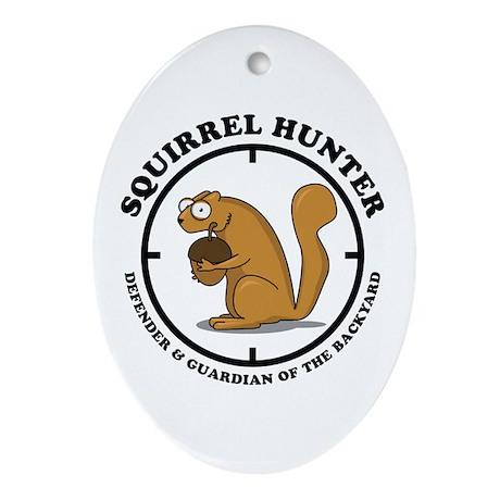 Squirrel Hunter Ornament (Oval)