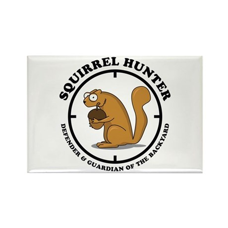 Squirrel Hunter Rectangle Magnet (100 pack)