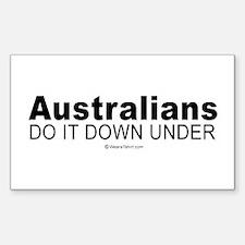 Australians do it down under - Sticker (Rectangul