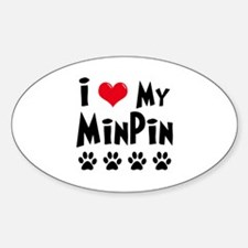 I Love My Min Pin Decal