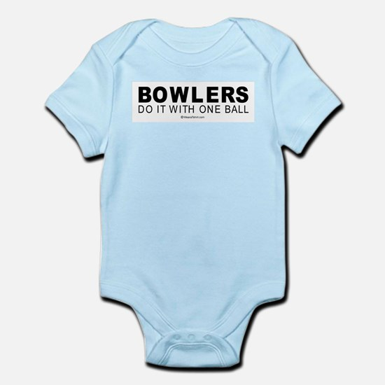 Bowlers do it with one ball -  Infant Creeper