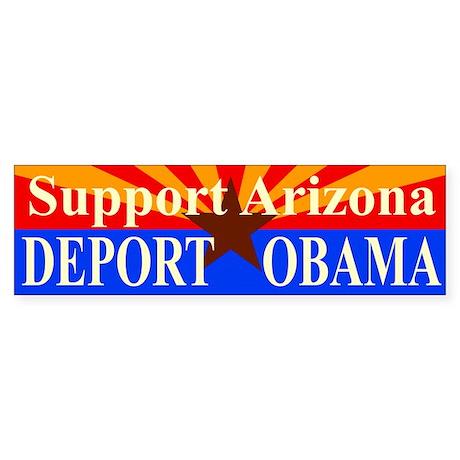 Arizona Deport Obama Sticker (Bumper)