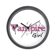 Vampire Girl Wall Clock
