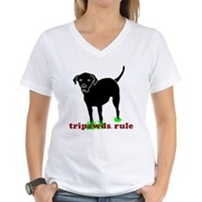 Tripawds Rule Rear Leg Lab Shirt
