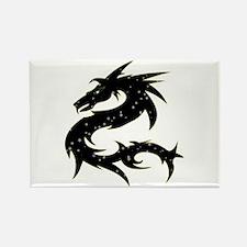 Black Star Dragon Rectangle Magnet
