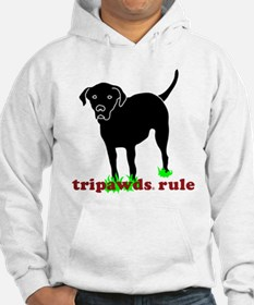 Tripawds Rule Rear Leg Lab Hoodie