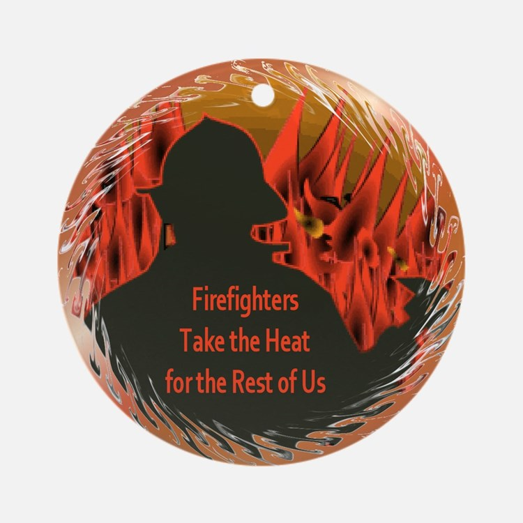 Firefighters Ornament (Round)