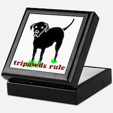 Tripawds Rule Rear Leg Lab Keepsake Box