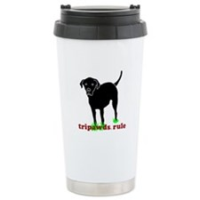 Tripawds Rule Rear Leg Lab Travel Mug