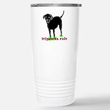 Tripawds Rule Rear Leg Lab Travel Mug