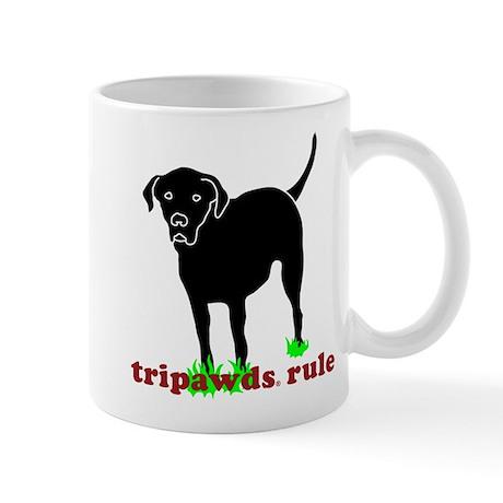 Tripawds Rule Rear Leg Lab Mug
