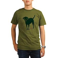 Tripawds Rear Leg Black Lab T-Shirt