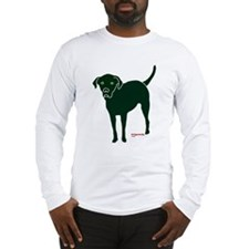 Tripawds Rear Leg Black Lab Long Sleeve T-Shirt