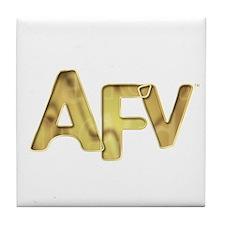 AFV Gold Tile Coaster
