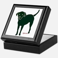 Tripawds Rear Leg Black Lab Keepsake Box