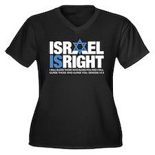 Israel A Tee 1 Women's Plus Size V-Neck Dark T-Shi