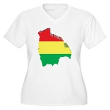 3D Map Of Bolivia T-Shirt