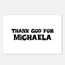 Thank God For Michaela Postcards (Package of 8)