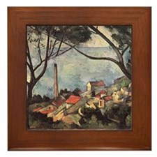 Cezanne Sea at L'estanque Ceramic Art Framed Tile