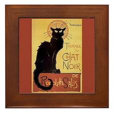 Chat NOir Black Cat Art Framed Tile