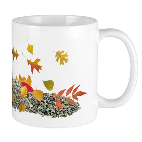Quail in Fall Leaves Mug