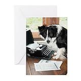 English shepherd dog Greeting Cards (10 Pack)