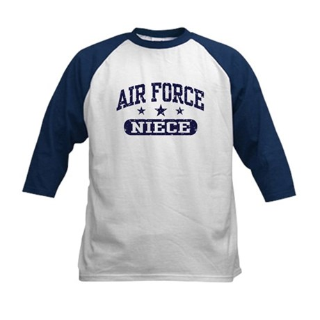 Air Force Niece Kids Baseball Jersey