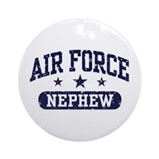 Air Force Nephew Ornament (Round)