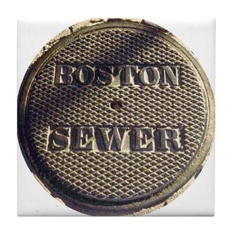 Boston Sewer Cover Tile Coaster