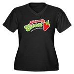 Naturally Sweet Women's Plus Size V-Neck Dark T-Sh