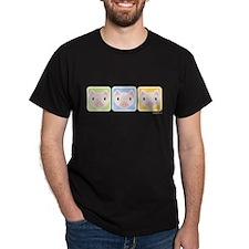 Three Little Pigs T Shirt (Black)