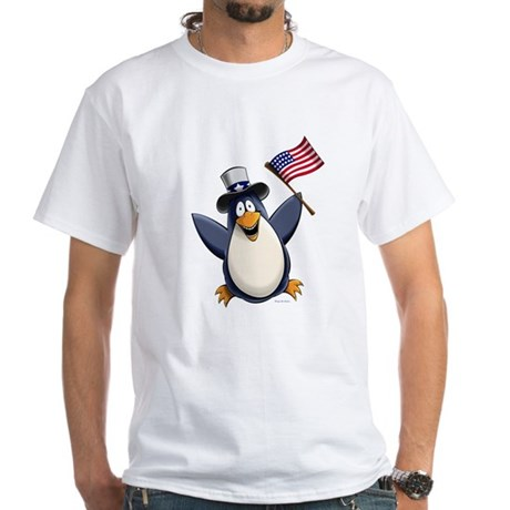 American Penguin White T-Shirt
