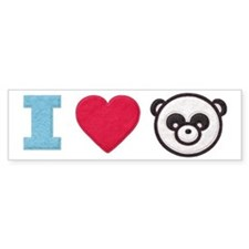 I Heart Panda Bumper Sticker