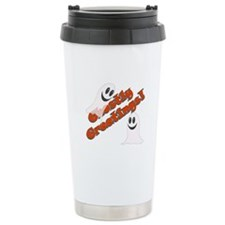 Funny Ghost on a stick Travel Mug