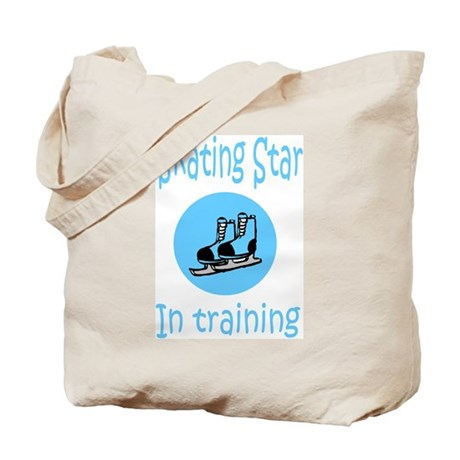 Blue Skating Star in Training Tote Bag