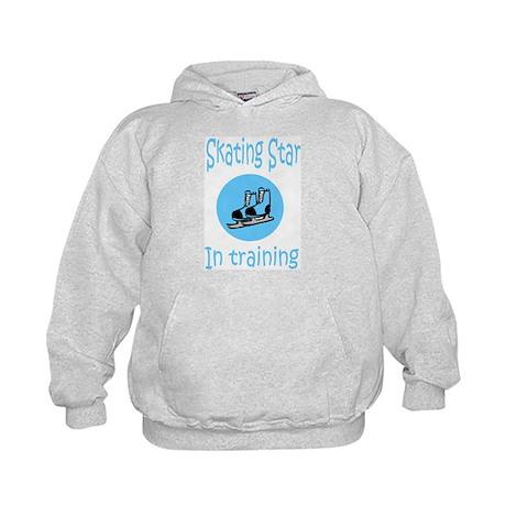 Blue Skating Star in Training Kids Hoodie