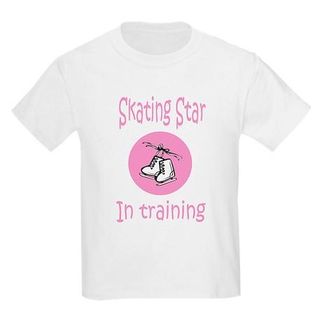 Pink Skating Star in Training Kids T-Shirt