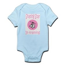 Pink Skating Star in Training Infant Creeper