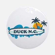 Duck NC - Surf Design Ornament (Round)