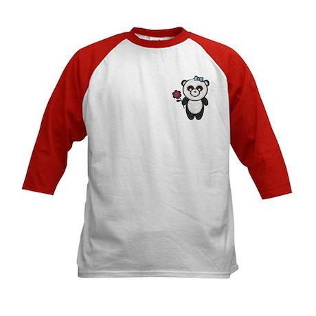 I Heart Panda Kids Baseball Jersey