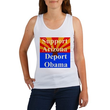 Arizona Deport Obama Women's Tank Top