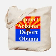 Arizona Deport Obama Tote Bag
