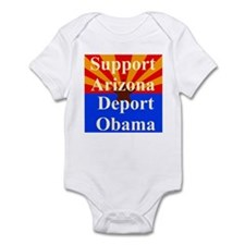 Arizona Deport Obama Infant Bodysuit