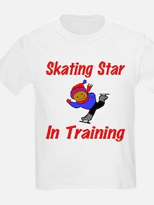 Skating Star in Training Jacob Kids T-Shirt