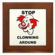 Unique Clown Framed Tile