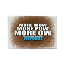 Wipeout More Wow Rectangle Magnet