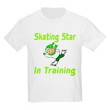 Skating Star in Training Isabella Kids T-Shirt