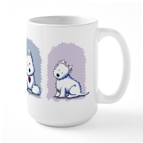 Westie Pastel Trio Large Mug