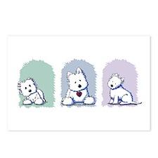 Westie Pastel Trio Postcards (Package of 8)