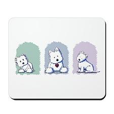 Westie Pastel Trio Mousepad